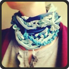 knotted t-shirt scarf tutorial @ahappynest
