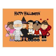 #Happy Halloween Children Postcard - #Halloween happy halloween #festival #party #holiday