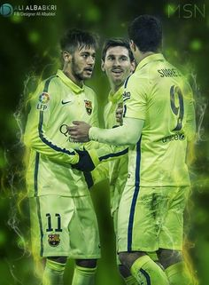 MSN - Messi - Suarez - Neymar ... Barcelona