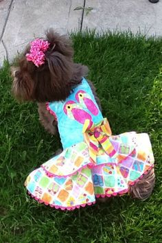 Flip Floppin Styling Dog Dress by JustForBella on Etsy, $95.00