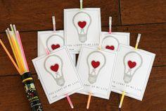 you light up my life #glow_sticks #valentine #no_candy