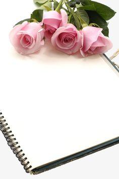 Rose and book PNG and Clipart Framed Wallpaper, Flower Background Wallpaper, Flower Phone Wallpaper, Flower Backgrounds, Flower Wallpaper, Rose Clipart, Book Flowers, Instagram Frame, Floral Border