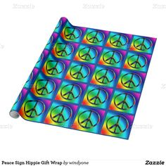 Peace Sign Hippie Gift Wrap