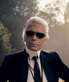 Forward-thinking, enigmatic, and at times brutally honest—wording describing both Chanel and the brand's veteran creative director, Karl Lagerfeld.