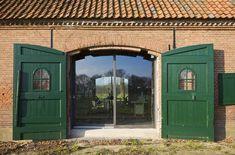 Farm On The Wamberg / Hilberink Bosch Architecten Future House, My House, Barn Style House Plans, Green Shutters, Green Doors, Brick Architecture, Door Detail, Wooden Gates, Door Knockers