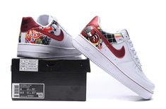 Ladies Nike Air Force 1 SE With Lacelocks White Black Pink On Sale