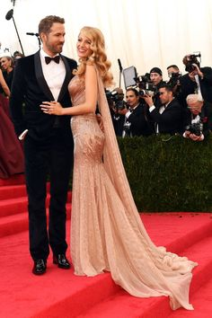 The 20 Most Stylish Couples at the 2014 Met Gala: Blake Lively and Ryan Reynolds