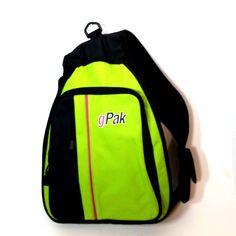 001f432b49 g Pak Crossbody Backpack Sling Shoulder Adjustable Strap Green Black