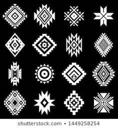 Royalty-Free Vector Images by Vodoleyka (over Native American Patterns, Native American Symbols, Native American Design, Native Design, Pattern Drawing, Pattern Art, Pattern Design, Art Chicano, Motifs Aztèques