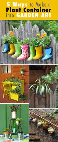 5 Ways to Make a Plant Container into Garden Art • Tips and Ideas!