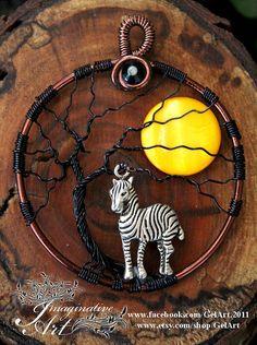 Arbre+de+vie++Sunset+Zebra+par+ImaginativeArtbyJo+sur+Etsy