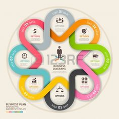 Business step up plan circle origami style. Vector illustration. can be used for workflow layout, Infographics, banner, diagram, number options, web design. photo