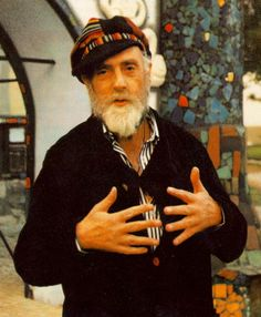 Friedensreich Hundertwasser (1928 - 2000) Austrian artist and architect, known for his sometimes controversial melding of the two forms