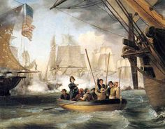 Thomas Birch - Commodore Perry Leaving the Lawrence for the Niagara at the Battle of Lake Erie