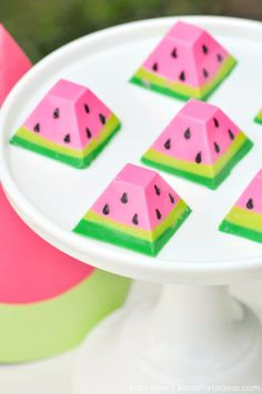 Watermelon themed DIY birthday party chocolates by Kara's Party Ideas | Kara Allen | KarasPartyIdeas.com #MichaelsMakers You're one in a mel...