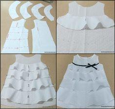 Hermoso Vestido de Niña en Capas, Muy Fácil! – Patrones De Costura