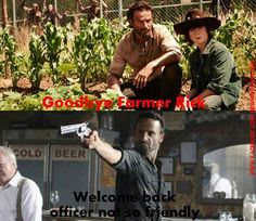 The Walking Dead/Welcome back, Officer Friendly.