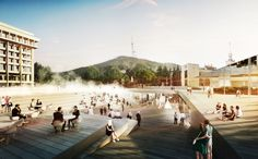 Designed by GRAFT. Architecture firm GRAFT has won first place in the competition to design the new Rose Square in Tbisili, Georgia. Located in front of the Radisson...