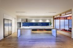 Churchlands home by Luxus Homes Tatami Room, Home By, Pivot Doors, Western Red Cedar, Timber Flooring, Marble Floor, Entrance Doors, New Builds, Wine Cellar