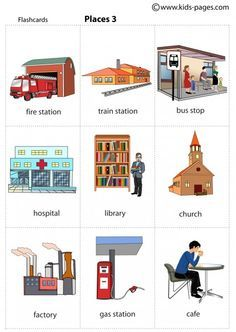 Kids Pages - Places 3 Kids English, English Study, English Class, English Words, English Lessons, English Grammar, Learn English, English Worksheets For Kids, English Activities