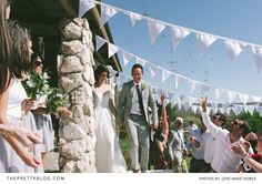 "Love this backyard ""Mediterranean Style"" ceremony 