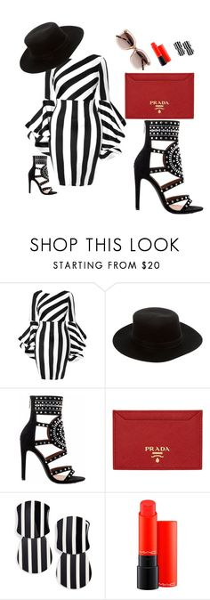 """""""Untitled #27"""" by emminna on Polyvore featuring beauty, Janessa Leone, Cape Robbin, Prada, Lele Sadoughi, MAC Cosmetics and Witchery"""