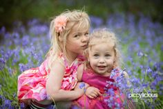 Girls and bluebells