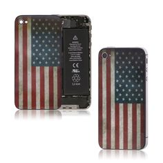 Retro USA Flag Glass iPhone 4s Back Battery Cover Housing Replacement American | eBay
