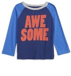 Infant Boy's Peek Awesome Raglan T-Shirt