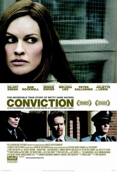 Just watched: Conviction. Good, not great. Worth renting. Long, kind of slow.