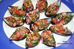 Good Food, Yummy Food, Recipes From Heaven, Spanish Food, Mussels, Canapes, Tapas, Bruschetta, Seafood Recipes