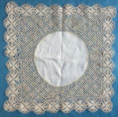 Small bundle antique/vintage silk Maltese lace - collar, handkerchief, border