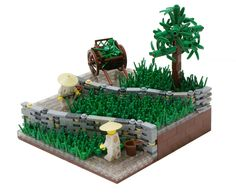 I got this idea from Marko Salopek. He told me to use it in a MOC as he doesn't build much.   Thanks for the idea, and I hope you all like my vision of it.-Matija Grguric. Rice Field by Matija Grguric.  {not sure why pinterest won't show pic, but links to it work}