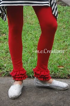 Colorful Layers of Ruffles Leggings Available in by mariaconde, $26.00 Ruffle Pants, Leg Warmers, Ruffles, Layers, Leggings, Etsy, Colorful, Clothes, Fashion