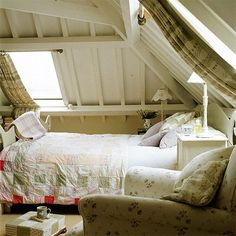 lovely little bedroom in the attic, with country style and secret flavour