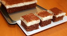 Semolina cake with cream milk Semolina Cake, Romanian Food, Hungarian Recipes, Confectionery, Tiramisu, Nutella, Cocoa, Cooking Recipes, Sweets