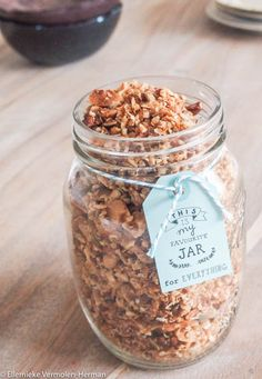 Home made granola Healthy Cake, Good Healthy Recipes, Healthy Drinks, Healthy Snacks, I Love Food, Good Food, Yummy Food, Muesli, Granola