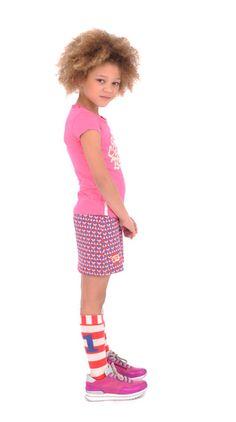 Summer Dress Cross allover heart Br@nd for girls summer 2016 www.brandforgirls.nl