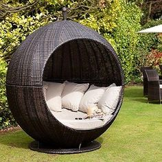 Rattan-Brown-Sofa-Day-Bed-Outdoor-Garden-Furniture-Lounger-Wicker-Cushion-Patio