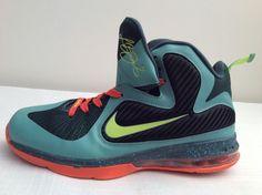 ff01a39b65c3 Nike Zoom LEBRON 9 CANNON VOLT SLATE BLUE ORANGE  469764-004  Size 11