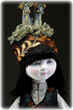 My Story Dolls are inspired from my love of the Chinese culture. Each is made from a specialty silk chirimen fabric underlined wit...