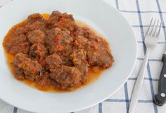Morcillo de ternera con tomate. DE RECHUPETE