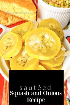 Sauteed Yellow Squash and Onions recipe. Simple ingredients. One pan. Ready in minutes. Easy Recipes For Beginners, Cooking For Beginners, Summer Recipes, Sauteed Yellow Squash, Yellow Squash Recipes, Healthy Side Dishes, Vegetable Side Dishes, Vegetable Recipes, Southern Side Dishes