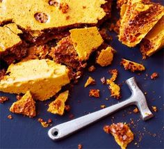 Making your own caramel requires care and attention, but the resulting bubbly crunchy cinder toffee is worth it good food recipes Bbc Good Food Recipes, Sweet Recipes, Yummy Food, Popular Recipes, Bread Recipes, Easy Recipes, Vegan Recipes, Sin Gluten, Honeycomb Recipe