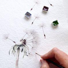 Good morning weekend  #dandelion #painting #watercolour