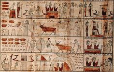 Late Period Egyptian - Agricultural scenes, detail from The Book of the Dead of Tsekhons - Fine Art Copy