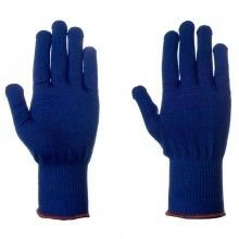 SUPERTOUCH Acri-Dot ® Heavy Duty Glove navy blue with red dots