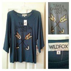 NWT Pretty, super soft and comfy tee! Photos where it appears darker are true to actual color. :)