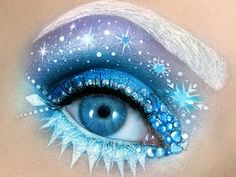 Maquillaje de fantasia inspirado en Elsa de Frozen./ Inspired fantasy makeup of frozen esla.