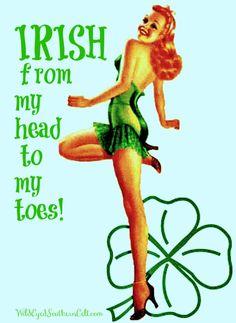 IRISH from head to to my toes! #Irish #IrishAmerican #Irishpinupgirl